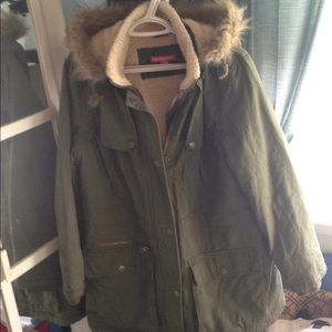 Army Style Sherpa Lined Parka